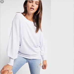 Free People Willow Thermal Top Shirt Waffle Knit